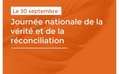 La Bibliothèque souligne la Journée nationale de la vérité et de la réconciliation